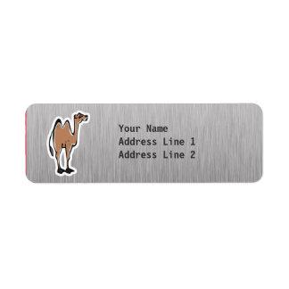 Cute Camel; Metal-look Return Address Label
