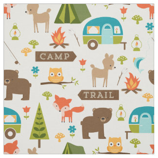 Cute Camp Critters Woodland Animals Fabric