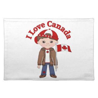 Cute Canada Themed Tees, Gifts for Boys Placemats