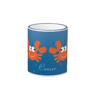 Cute Cancer Crabs Zodiac Sign Custom Ringer Mug