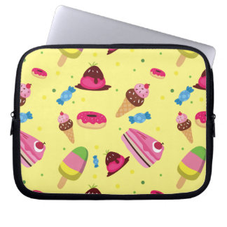 Cute candy and sweet colored pattern computer sleeves