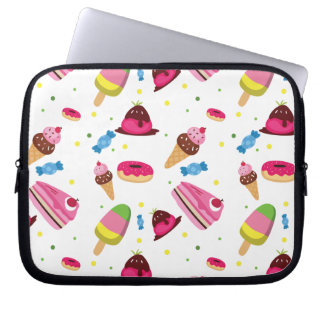 Cute candy and sweet colored pattern laptop sleeve