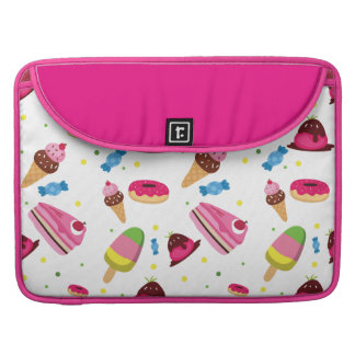 Cute candy and sweet colored pattern MacBook pro sleeves