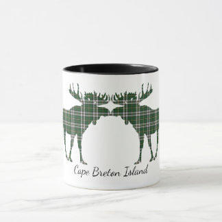 Cute Cape Breton Island moose kiss coffee mug