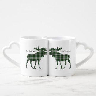 Cute Cape Breton Island moose kissing lovers mug