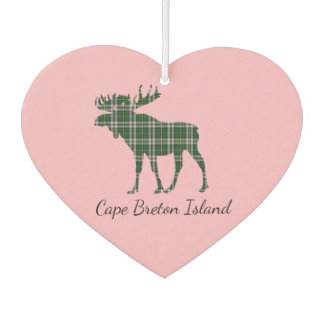 Cute Cape Breton Island moose tartan Air freshener