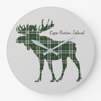 Cute Cape Breton Island moose tartan clock