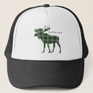 Cute Cape Breton Island moose tartan hat