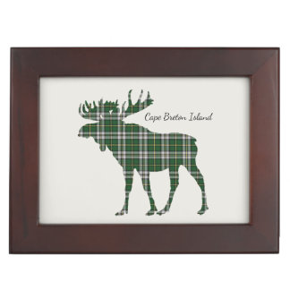 Cute Cape Breton Island moose tartan memory box