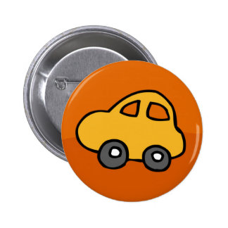 Cute CAR 2 Inch Round Button