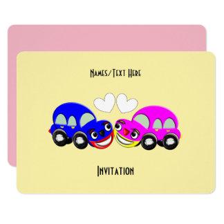 Cute Car Themed Fun Party Card