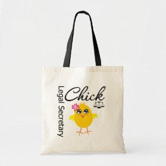 Cute Career Chick - Legal Secretary Budget Tote Bag