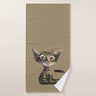 Cute Caricature Cat Bath Towel
