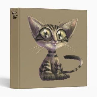 Cute Caricature Cat Binder
