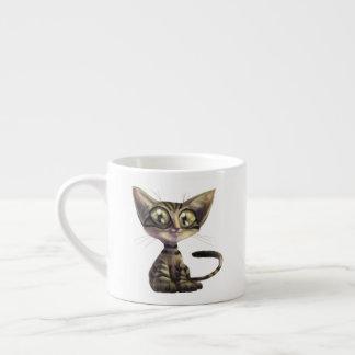 Cute Caricature Cat Espresso Cup