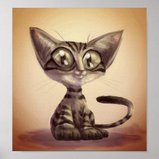 Cute Caricature Cat Poster