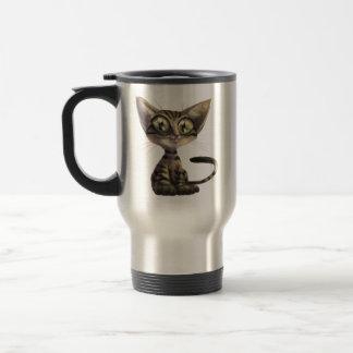 Cute Caricature Cat Travel Mug