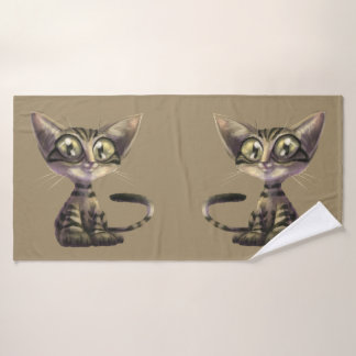 Cute Caricature Cats Bath Towel