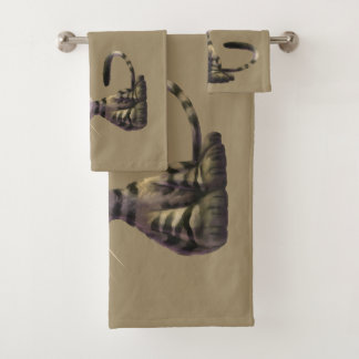 Cute Caricature Cats Bathroom Towel Set