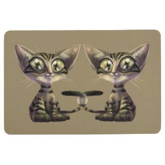 Cute Caricature Cats Floor Mat