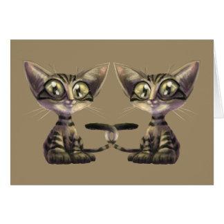 Cute Caricature Cats Greeting Card