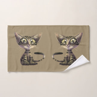 Cute Caricatures Cat Hand Towel