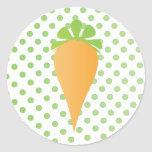 Cute Carrot Round Stickers
