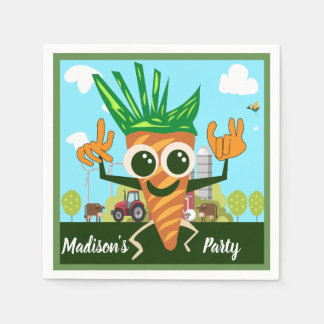 Cute Carrot Standard Cocktail Party Napkins Disposable Napkin