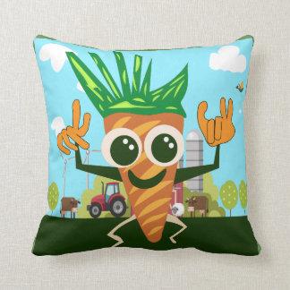 Cute Carrot Throw Pillow