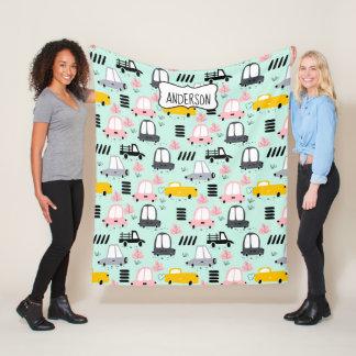 Cute Cars  Fleece Blanket, Medium