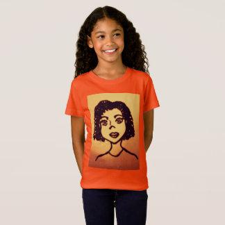 Cute Cartoon African Girl T-Shirt
