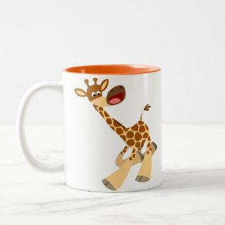 Cute Cartoon Ambling Giraffe Mug