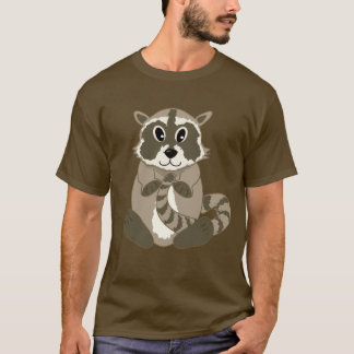 Cute Cartoon Animal - Baby Raccoon T-shirt