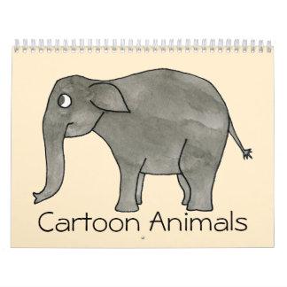Cute Cartoon Animals Calendar 2014.