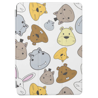 Cute Cartoon Animals Portrait Pattern iPad Air Cover