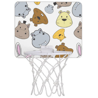 Cute Cartoon Animals Portrait Pattern Mini Basketball Hoop