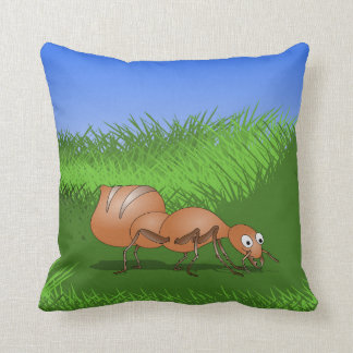 Cute Cartoon Ant Throw Pillow