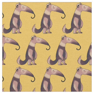 cute cartoon anteater pattern fabric