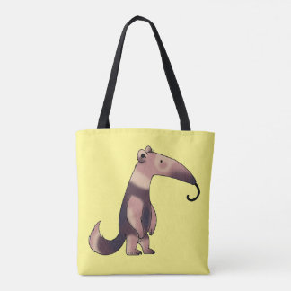 cute cartoon anteater tote bag