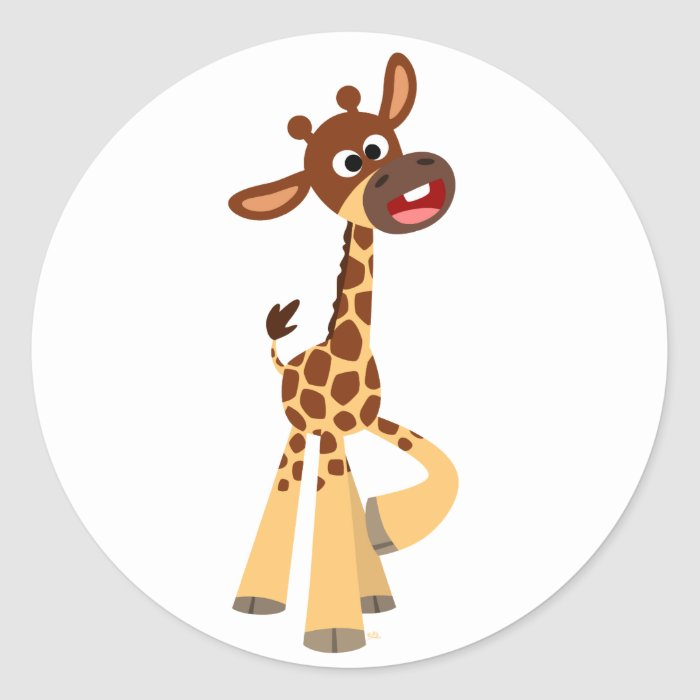 Cute Cartoon Baby Giraffe Sticker