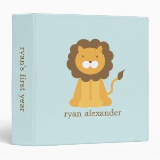 Cute Cartoon Baby Lion Vinyl Binder