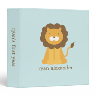 Cute Cartoon Baby Lion binders
