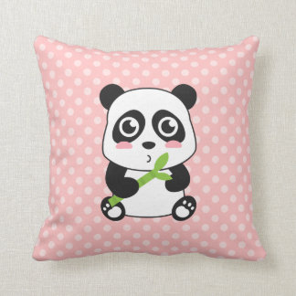 Cute Cartoon Baby Panda Throw Pillow