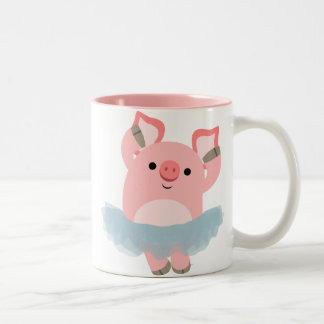 Cute Cartoon Ballerina Pig Mug