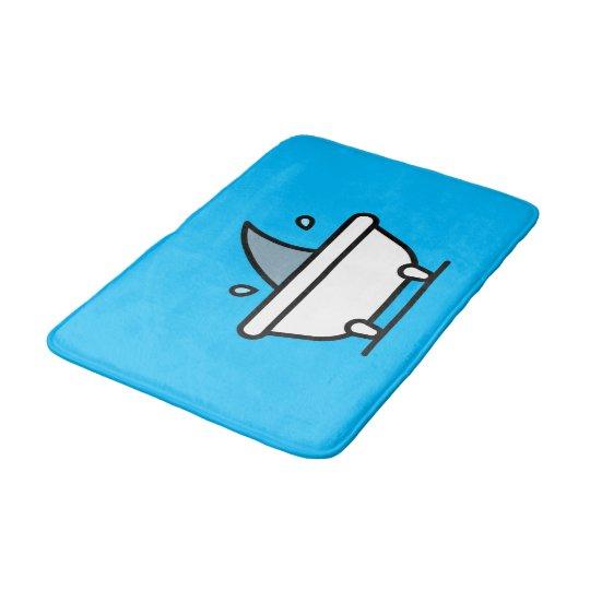 Cute Cartoon Bathtub With Shark Fin Bath Mat