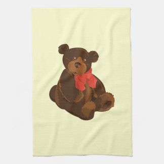 Cute cartoon bear kitchen towel