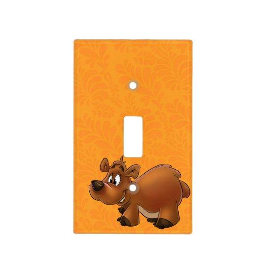 Cute cartoon bear light switch