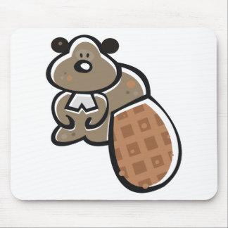 cute cartoon beaver mouse pad