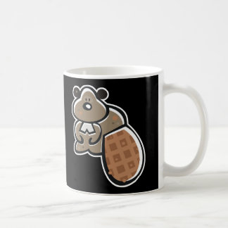 cute cartoon beaver coffee mug