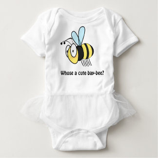 Cute cartoon bee baby bodysuit